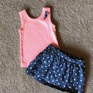 Carter's Matching Skirt and Tank